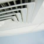 ventilation system; air condition vent in office ceiling close up