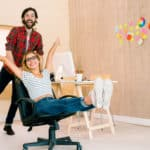 Creative team having fun together in casual office